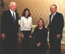 John Glenn, Dr. Sally Ride, Amy Dunaway-Haney, Vance Coffman